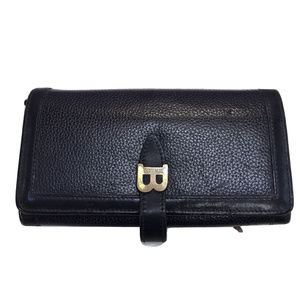 Bally Black Pebble Leather Wallet